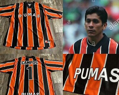 Pumas Unam Mexico Futbol Soccer Used Nike Retro Jersey XL Campos Football