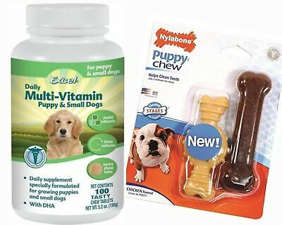 Best Multi-Vitamins For Small Dogs And Puppies- Excel Chewable Tablets