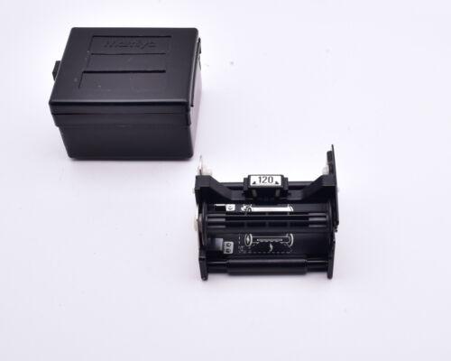 Mamiya M645 120 Roll Film Back Holder & Case (#8906)