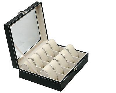 UK New 10 Grid Jewelry Watch Display Box Case Storage Organizer Holder Showcase