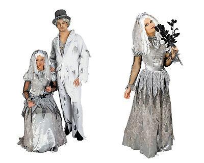 ZOMBIE Damen Herren Partner Paar Kostüm Halloween Kleid Anzug Vampir Hexe NEU  (Halloween Kostüm Kleid Anzug)
