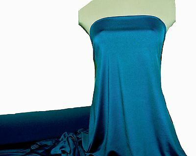 MICROFIBER JERSEY SPANDEX FABRIC TEAL BLUE  60