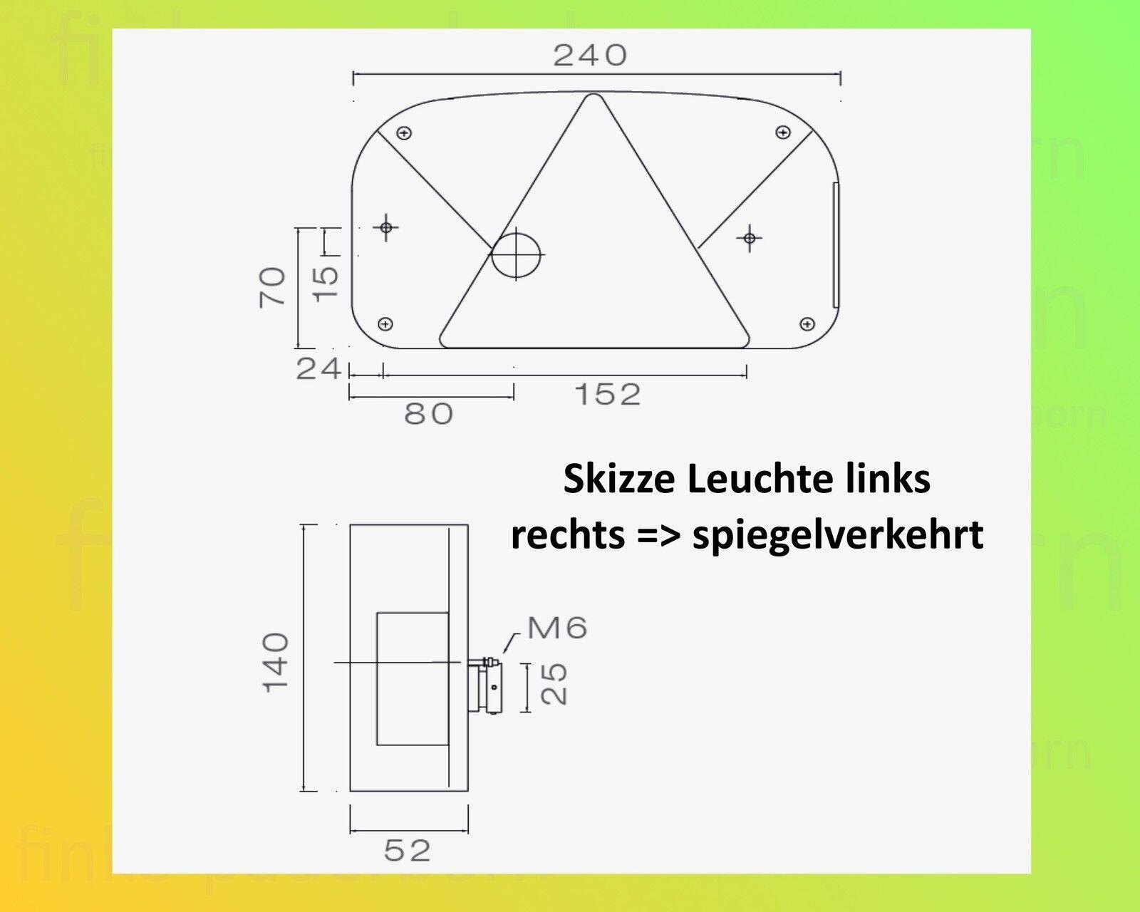 ASPÖCK MULTIPOINT 2 Anhängerbeleuchtung - 7polig 5,0m Kabelbaum ...
