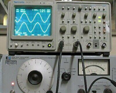 Tektronix 2430 Digital Storage Oscilloscopedso 150mhz 2ch Option 5