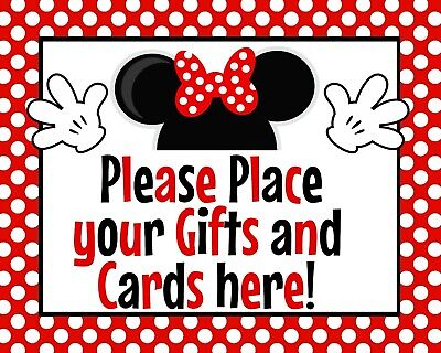 Minnie Mouse Birthday Table (Disney Minnie Mouse STAND UP Birthday 8.5x11