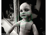 Vintage Doll POSTER//Weird and Scary looking//Macabre Wood Doll//17x22 inches