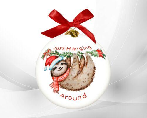 LI BIEN 2021 Authentic SLOTH Ornament Hand Painted on inside