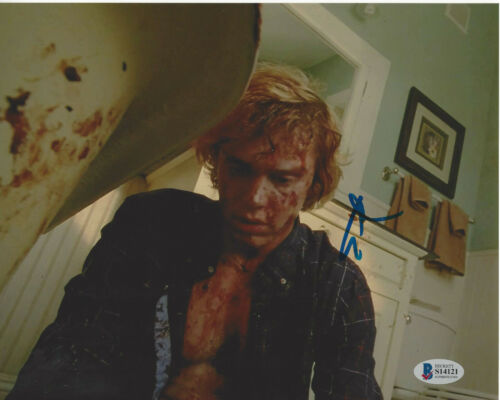 EVAN PETERS SIGNED AUTHENTIC 'AMERICAN HORROR STORY' 8X10 PHOTO BECKETT COA BAS