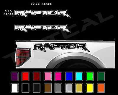 - FORD RAPTOR Truck Side Bed Lettering Decals Vinyl Graphic Sticker 2010-2014