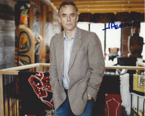 AUTHOR JORDAN B. PETERSON SIGNED 8x10 PHOTO 1 w/COA 12 RULES FOR LIFE PROOF