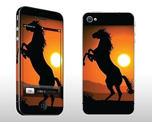 Apple iPhone 4S Vinyl Decal Cover Sticker Skin Kit - Wild & Free Horse