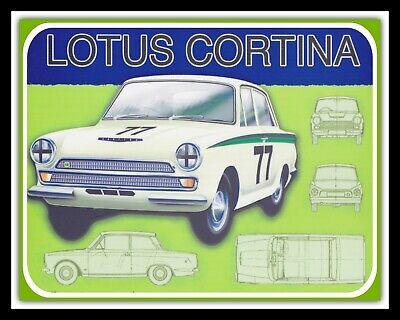 FORD LOTUS CORTINA CAR GARAGE MOTOR MECHANIC WORKSHOP METAL PLAQUE TIN SIGN 1472