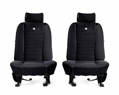 PAIR OF FORD ESCORT MK1 FRONT SEAT COVERS RS2000 ROLLTOP BETACLOTH