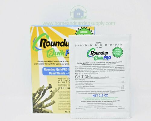 Roundup QuickPro 73.3% Glyphosate Weed and Root Killer 5 x 1.5oz Makes 5 Gallons