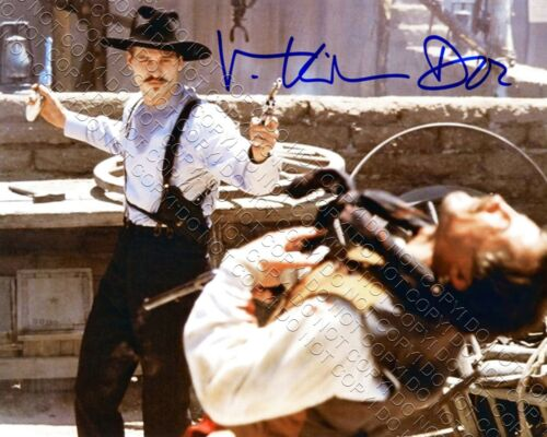 REPRINT 8x10 SIGNED AUTOGRAPHED PHOTO VAL KILMER TOMBSTONE DOC HOLLIDAY SHOOTOUT