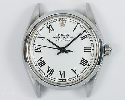Rolex Vintage Stainless Steel Air-King Ref 5500 w/ Refinished Dial, Smooth Bezel