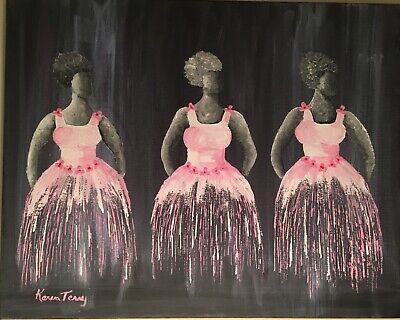 Ballerina's abstract art  by artist Karen Terry