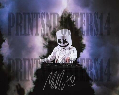 Marshmello 8x10 SIGNED REPRINT Alone Fortnite DJ Dance #2