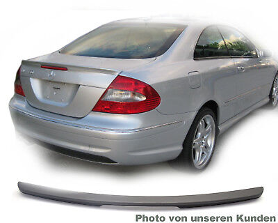 Mercedes Benz CLK C209 A209 209 Coupe SPOILER Heck AMG Typ A LIPPE SILBER 744