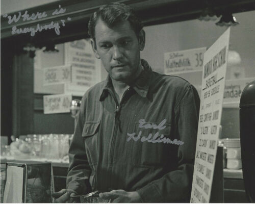 EARL HOLLIMAN SIGNED AUTHENTIC 'THE TWILIGHT ZONE' 8x10 PHOTO w/COA TV ACTOR