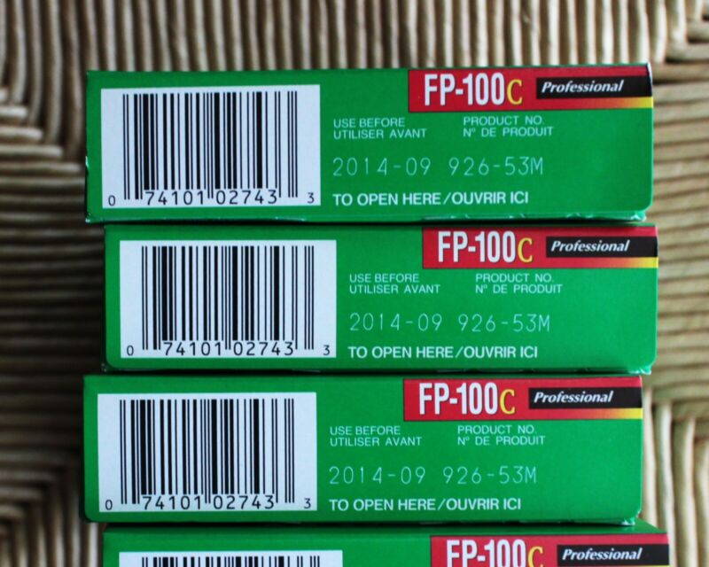 Brand New FujiFilm FP-100C Instant Color Film Cold Stored ~ 2014