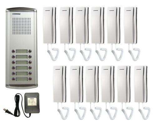 COMMAX 12-Apartment Audio Intercom KIT DR-12AM x1/ DP-SS x12/AC ADAPTOR x1