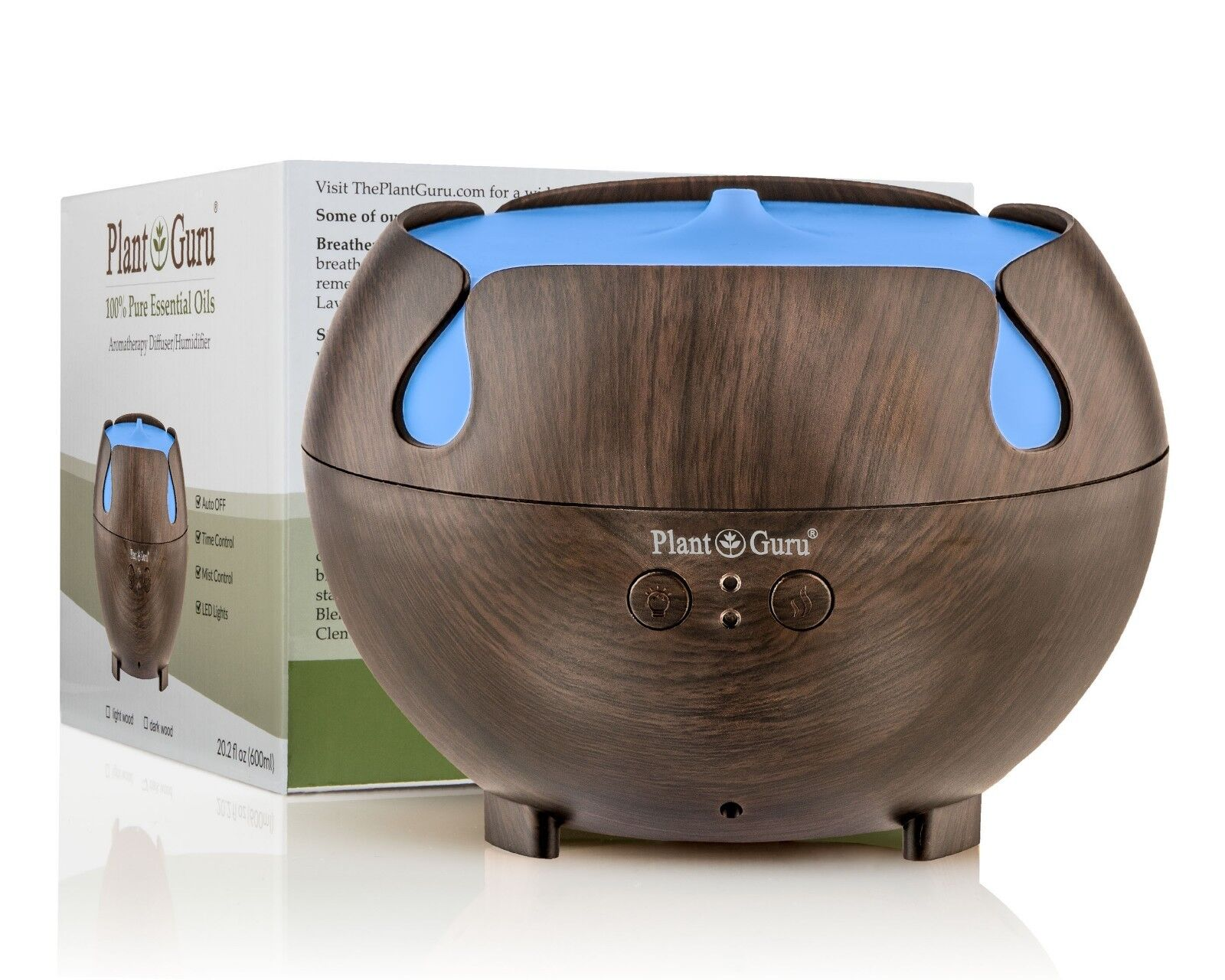 Essential Oil Diffuser Ultrasonic Humidifier Large 600ml. LE