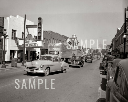 1952 Main Street Lancaster SC Parr Theater - Springs Cotton Mills - Print Photo