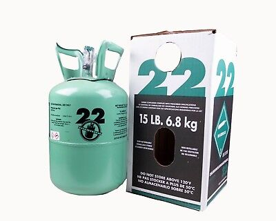 New R-22 Virgin Refrigerant Factory Sealed 15 Lbs. Free Same Day Shipping