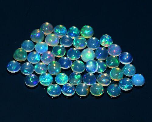 45 Pcs  5 MM Round Shape AAA+100%Natural Ethiopian Fire Opal Loose Gemstone#1754