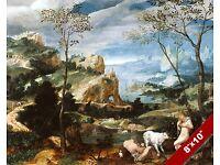 PARIS OF TROY GREEK FANTASY MYTH MYTHOLOGY ART PAINTING REAL CANVAS PRINT