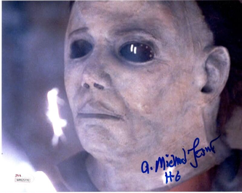 A. MICHAEL LERNER signed 8x10 Photo HALLOWEEN 6 The Curse of Michael Myers JSA