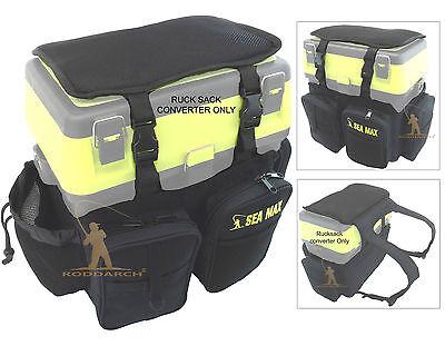 SEA MAX Sea Boat Fishing Seat Box Rucksack Converter Fishing Back Pack Roddarch