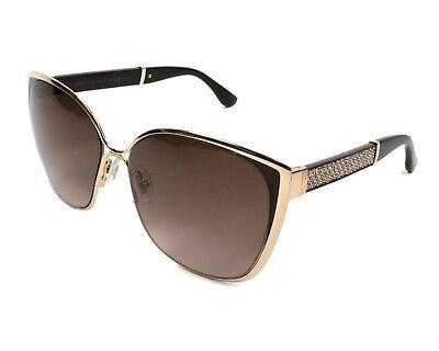 Jimmy Choo Maty/S 17C/V6 Cat Eye Women Sunglasses Gold Brown Glitter NEW (Jimmy Choo Glitter Sunglasses)