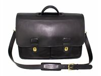Ladies Leather Briefcase Business case Attach/é case Hand Bag Business Bag BNWT Brown Solid Brass Chromed Hard