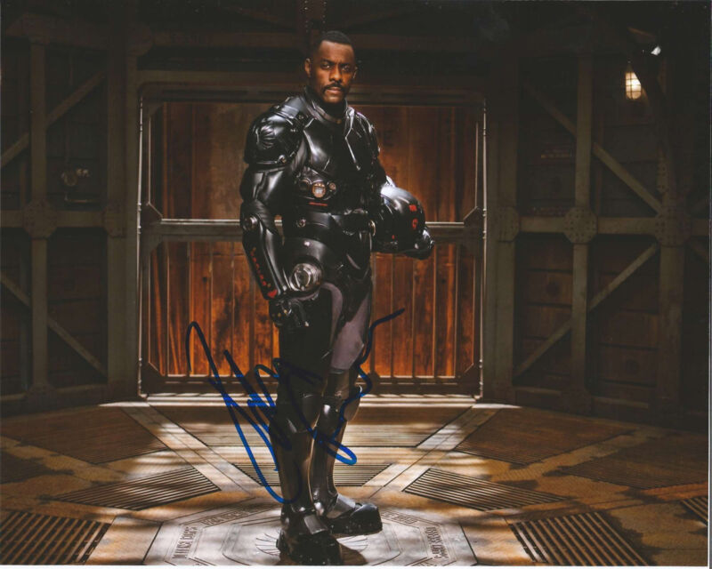 IDRIS ELBA HAND SIGNED AUTHENTIC 'PACIFIC RIM' 8X10 PHOTO w/COA LUTHER THE WIRE
