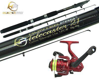 6ft Telescopic Carbon Fishing Rod Reel Combo Travel Pike Stalking Fishing Kit
