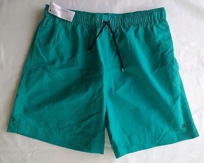 HERMES PARIS Mens Swim Shorts BOXER LONG in TURQUOISE - Size S - BNWT