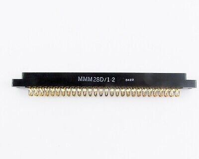 Adc Card Edge Connector Mmm28d1-2 Dual 28-56 Solder Eyelet 0.156 Cl W Ears