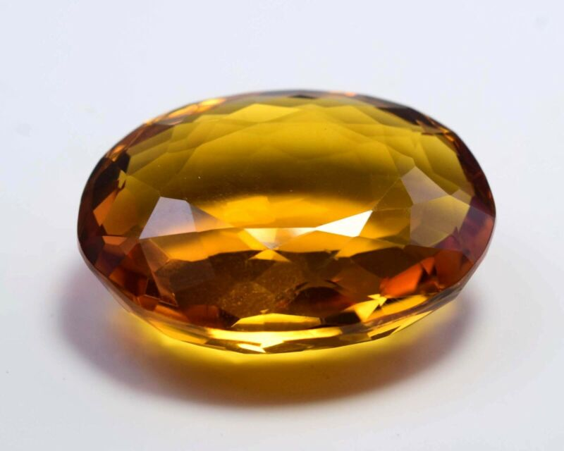 Excellent 84 Ct Yellow Citrine Oval Shape Cut Loose Gemstone S-2389