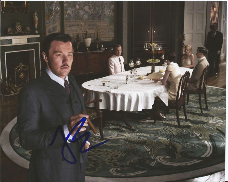 JOEL EDGERTON HAND SIGNED AUTHENTIC THE GREAT GATSBY 'TOM' 8X10 PHOTO w/COA