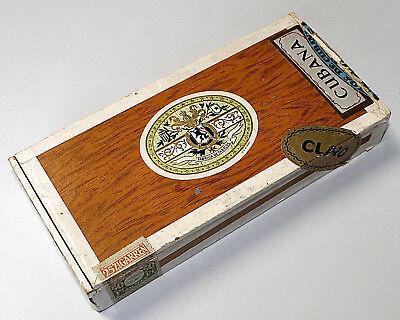 Alte Antike Cubana Zigarrenschachtel Zigarrenkiste Holz-Box Tabacos Primeros