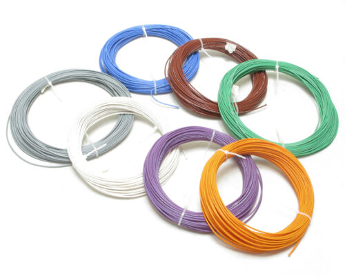 AWM 1180 Style 18AWG PTFE Silver Plated Copper Wire, 100ft