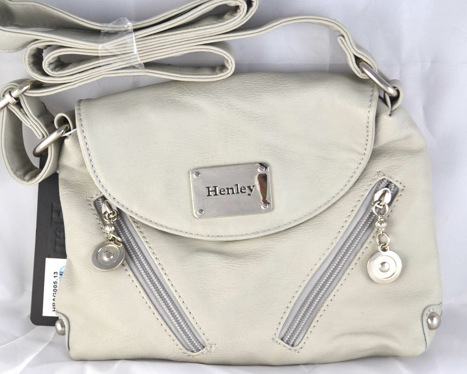 Henley Womens Faux Leather Cross Body Messenger Shoulder Pink Bag Zipped Handbag