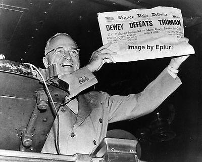 PRESIDENT HARRY S. TRUMAN - 'DEWEY DEFEATS TRUMAN' - 8X10 PHOTO