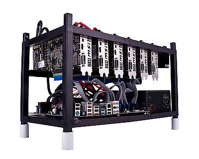 50 ZCASH Mining Rigs 85,000 H/S 300 X AMD RX580 8GB GPU CryptoCurrency ETH/XMR