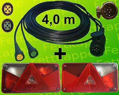 Aspöck Multipoint 5 Leuchten Set - 13polig 4m Kabelbaum - Anhängerbeleuchtung