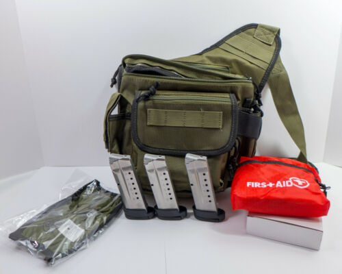 Smith & Wesson M&P Bug Out Bag 3 Shield 9mm 8 Round Magazines Mask First Aid Kit