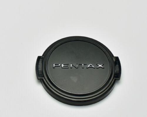 Genuine Pentax 49mm Snap On Front Lens Cap Silver Black SMC (2715)