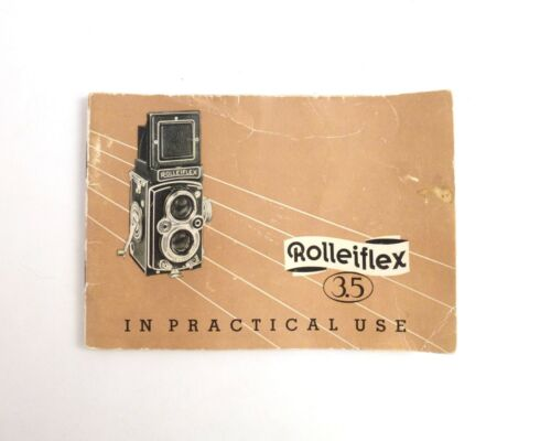 Rolleiflex 3.5 Genuine Original User Instruction Manual Booklet